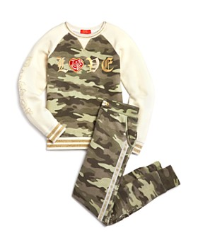 Butter - Girls' Camo Sweatshirt & Jogger Pants - Big Kid