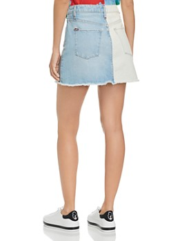 Alice and Olivia - Amazing Asymmetric Two-Tone Denim Skirt