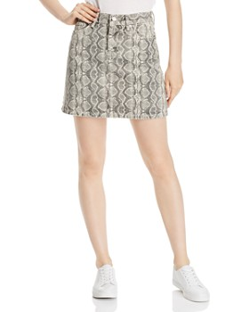BLANKNYC - Snake Print Denim Mini Skirt