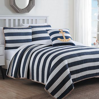American Home Fashion - Hampton 2-Piece Quilt Set, Twin