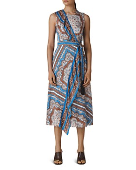 e0b38a0cc Whistles - Aadya Bandana-Print Midi Wrap Dress ...