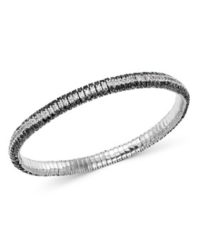 Roberto Demeglio - 18K White Gold Giotto Black & White Diamond Stretch Bracelet