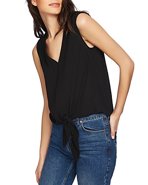 1.state Sleeveless Tie-Front Top