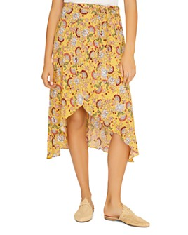 Sanctuary - Jamie Floral-Print Faux-Wrap Skirt