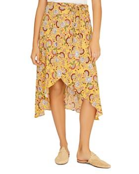 Sanctuary - Jamie Floral-Print Faux-Wrap Skirt