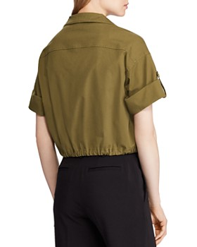 Ralph Lauren - Short-Sleeve Cropped Jacket