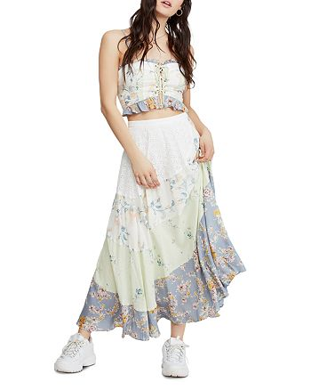 Free People - In The Flowers Cropped Top & Maxi Skirt Set