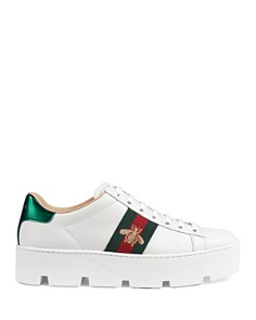 Gucci - Women's Ace Embroidered Platform Sneakers