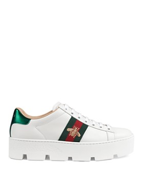 947e83ed6 Gucci - Women's Ace Embroidered Platform Sneakers Gucci - Women's Ace  Embroidered Platform Sneakers