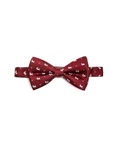 Paul Smith - Dog Print Silk Pre-Tied Bow Tie
