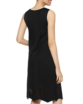 Misook - Textured Chevron A-Line Dress