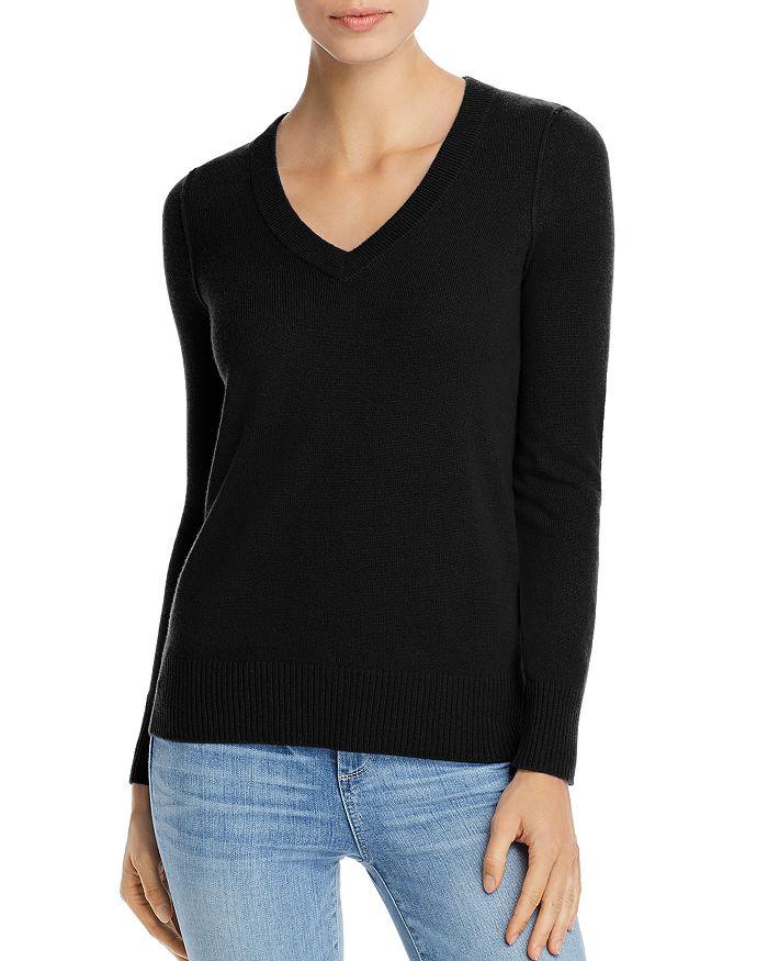 AQUA - V-Neck Cashmere Sweater - 100% Exclusive