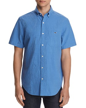Vineyard Vines - Short-Sleeve Seersucker Striped Classic Fit Button-Down Shirt