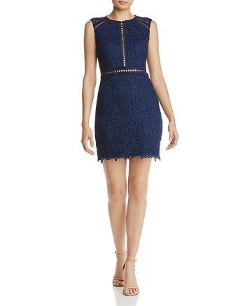 AQUA - Lace Sheath Dress - 100% Exclusive