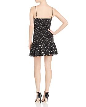 The East Order - Mimi Smocked Floral-Print Mini Dress