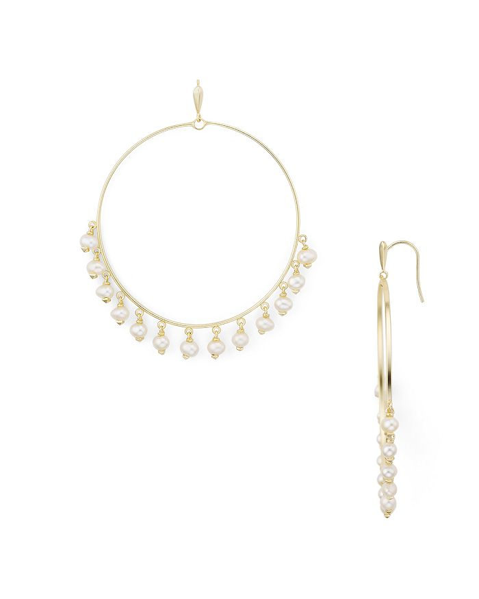 Kendra Scott - Hilty Cultured Freshwater Pearl Frontal Hoop Earrings