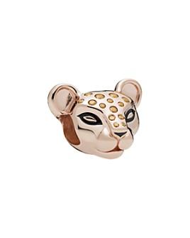 Pandora - Rose Gold Tone-Plated Sterling Silver Sparkling Lion Princess Charm