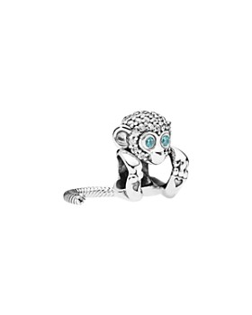 Pandora - Sterling Silver & Cubic Zirconia Sparkling Monkey Charm