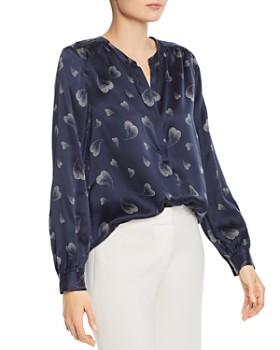 Joie - Mintee Heart-Print Silk Shirt