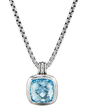 David Yurman - Sterling Silver Albion Pendant with Blue Topaz