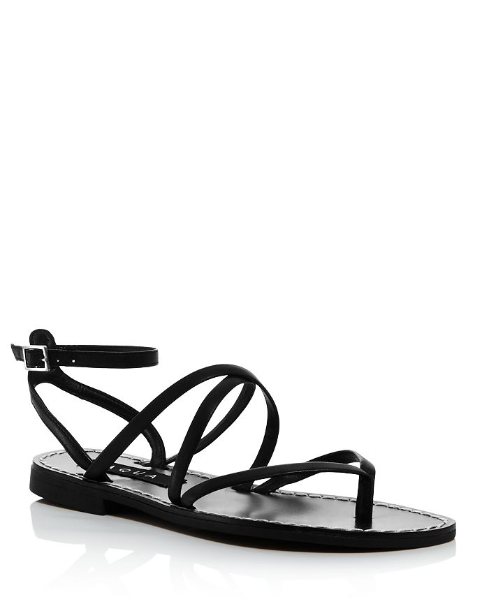 AQUA - Women's Sand Strappy Thong Sandals - 100% Exclusive