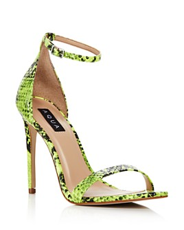 AQUA - Women's Siri High-Heel Sandals - 100% Exclusive