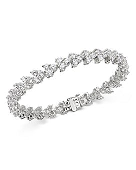 Bloomingdale's - Diamond Trio Tennis Bracelet in 14K White Gold, 10 ct. t.w. - 100% Exclusive