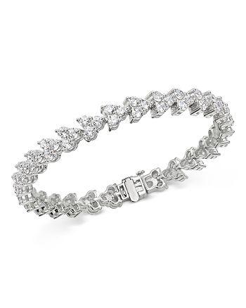 Bloomingdale's - Diamond Trio Tennis Bracelet in 14K White Gold, 10 ct. t.w. - 100% Exclusive