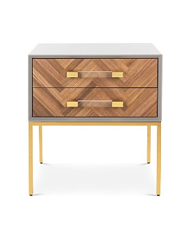 SAFAVIEH - Sanford Walnut 2-Drawer Side Table