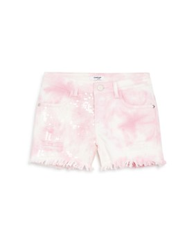 bebe - Girls' Tie-Dyed & Sequined Shorts - Big Kid