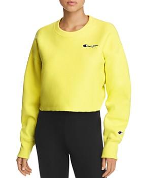 Champion - Cropped Logo Sweatshirt