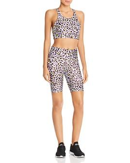 Terez - Metallic Cheetah-Print Bra & Shorts