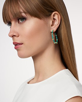 Freida Rothman - Harmony Hoop Earrings in 14K Gold-Plated Sterling Silver