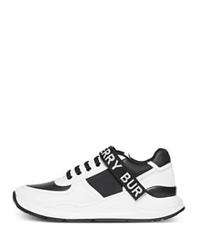 Burberry - Women's Logo Leather & Nylon Sneakers