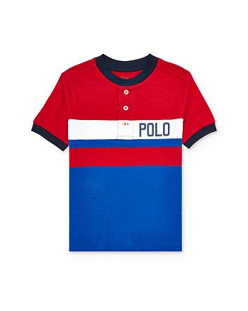 Ralph Lauren - Boys' Striped Henley Tee - Little Kid