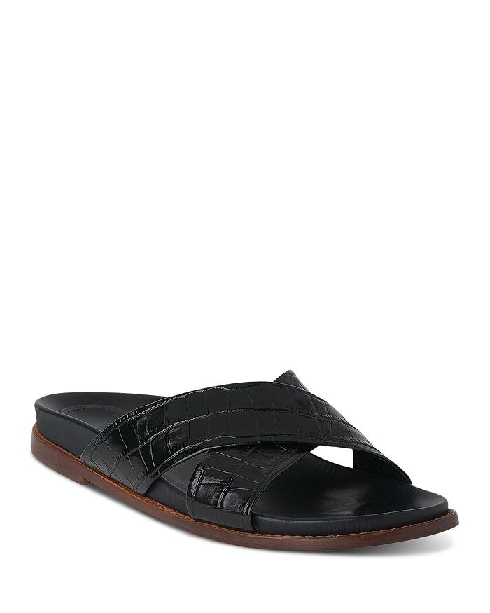 Whistles - Women's Hester Croc-Embossed Slide Sandals