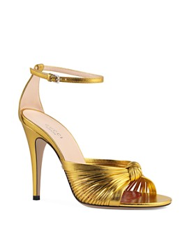 Gucci - Women's Crawford Metallic Leather Sandals