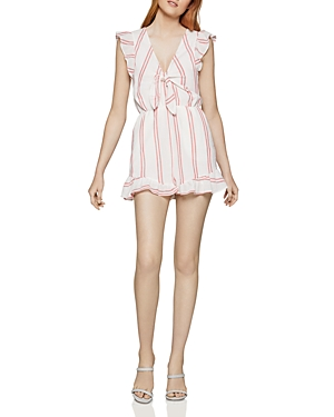 Bcbgeneration Tops TIE-FRONT STRIPED ROMPER