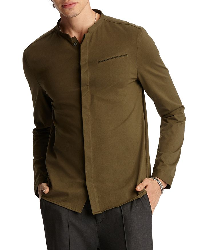 John Varvatos Collection - Banded-Collar Regular Fit Shirt