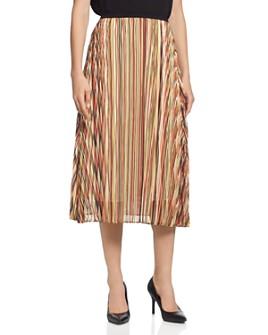 T Tahari - Striped Midi Skirt