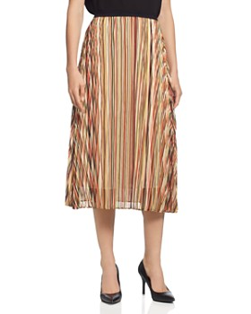T Tahari - Striped Midi Skirt