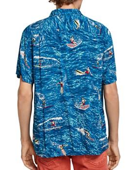 Scotch & Soda - Surfer-Print Slim Fit Hawaiian Shirt