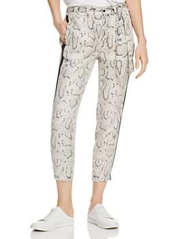 9821dd0001cf2 PAM & GELA - Python-Print Cropped Pants ...