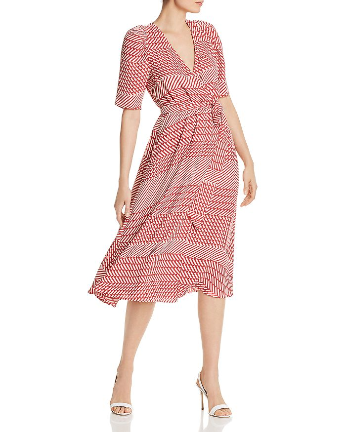Joie - Cata Striped Wrap Midi Dress