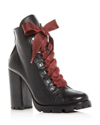 Zara High Block-Heel Booties