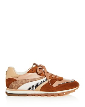 COACH - Women's Wave Mixed-Media Low-Top Sneakers