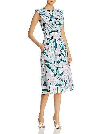 Tory Burch - Ruffle-Trimmed Printed Dress
