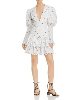 Acler - Sunny Embroidered Puff-Sleeve Dress