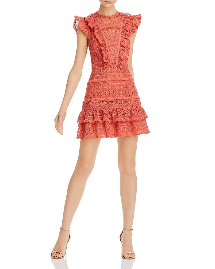 Saylor - Embroidered Open-Back Mini Dress