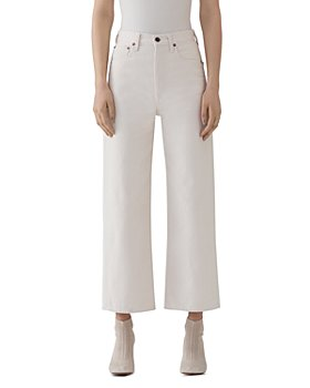AGOLDE - Ren High-Rise Cropped Wide-Leg Jeans in Paper